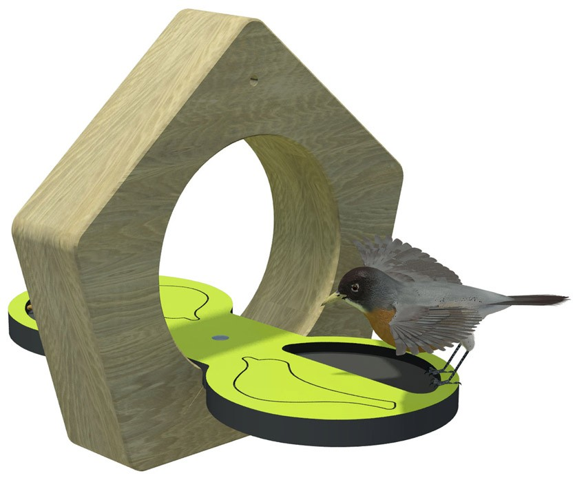 Small hanging bird table